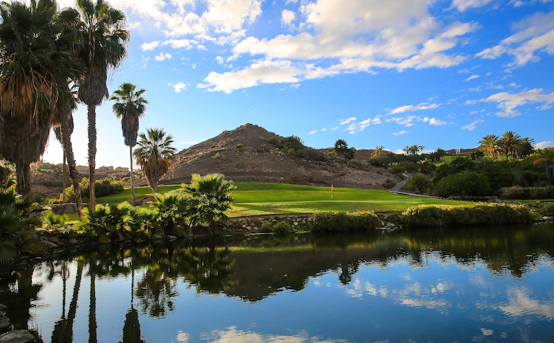 The scenic 8th hole on Salobre Golf's Old Course