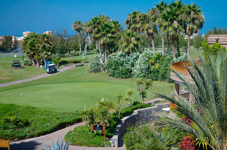 Drive your buggy from your room at Las Madrigueras Hotel right on to the golf course